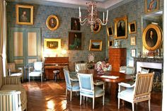 The Salon ~ Nohant, writer George Sand's home in France