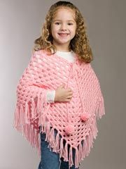 Crochet poncho. Another thing my Granny made me lots of. :)