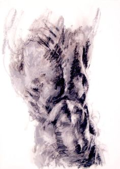 figure drawing - from life - Torso - pastel on paper - original drawing