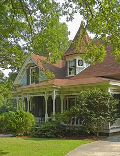 victorian home - I can see myself sitting on the front porch with the husband now!