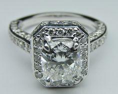 Cushion Diamond Double Halo Engagement Ring