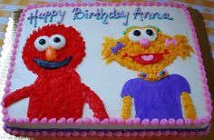 elmo + zoe cake by Snacky French