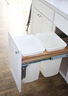 How to Install a Pull-Out Garbage Bin | DIYIdeaCenter.com