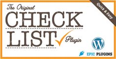 See More Checklist WordPress Plugin - Check List Builderlowest price for you. In addition you can compare price with another store and read helpful reviews. Buy