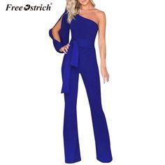 1dac4637504 Libre de avestruz monos de verano para mujeres 2019 de moda elegante negro  blanco ancho pierna