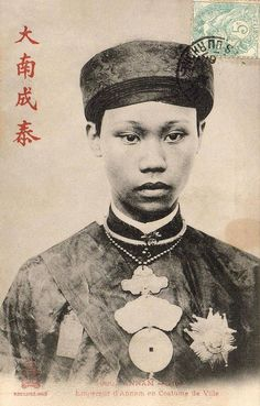 Vua Thành Thái trong quốc phục áo dài khăn đóng www.flickr.com/photos/13476480@N07/5180674766/in/set-7215...