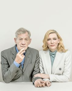 Ian McKellen and Cate Blanchett by Jenelle Riley for Variety.