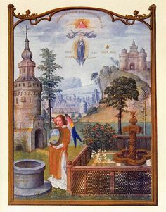 Grimani Breviary - Mystical Attributes of the Virgin (1490-1510)