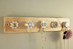 Reclaimed Wooden Jewellery Hook Board