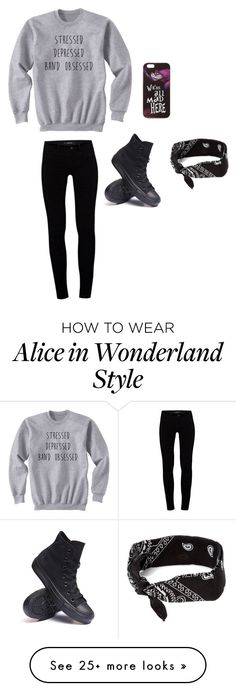 """Stressed, depressed Band Obsessed"" by clairebear89 on Polyvore featuring J Brand, Converse, Disney and claire's"