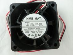 Was:US $23.50  You save:$9.40 (40% off)  Price:US $14.10 NMB 2410ML-05W-B69 24VDC Axial Fan  6025 A90L-0001-0508 #NMB