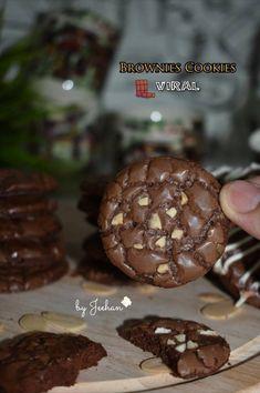 Brownie Cookies, Yummy Cookies, Cokies Recipes, Princess Cookies, Delicious Cake Recipes, Dutch Recipes, Almond Cookies, Indonesian Food, Diy Food
