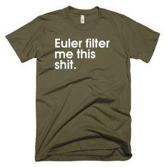 Euler Filter - American Apparel men's t-shirt (Oh, animation!)
