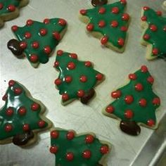 Sugar Cookie Icing -   The consistency is great, the colors POP, and it sets up well - hard enough to stack, but not brittle - once dried.  It's very sweet, not the most flavorful icing (though you can substitute vanilla or lemon extract rather than the almond) and very easy to make.  Do make sure you have some extra corn syrup - I found that it took more than called for to make it easily spreadable.  Also, I just dumped everything together, mixed, then added liquid to adjust the…