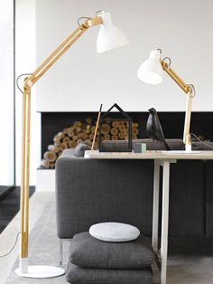 Meyer 1 Light Table Lamp in Ash/White