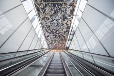 Image 2 of 12 from gallery of Nydalen Metro Station Extension / Kristin Jarmund Architects. Photograph by Gitte Boge Architecture Today, Light Architecture, Terminal, Metro Station, George Washington Bridge, Artwork Design, Public Transport, Oslo, The Expanse