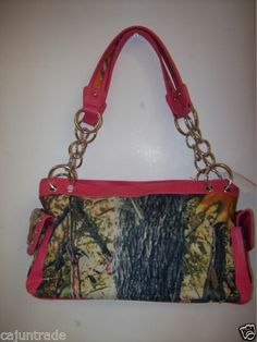 Camo Purse with Hot Pink Trim