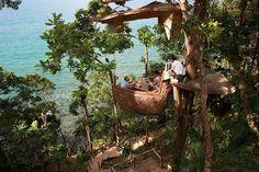 Lofty Tree Pod Dining at the Soneva Kiri Resort Thailand