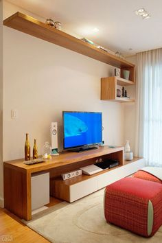 Best home theater planejado amadeirado ideas Living Room Tv, Home And Living, Muebles Rack Tv, Tv Rack Design, Home Library Rooms, Diy Rack, Floating Shelf Decor, Home Gym Design, Trendy Home