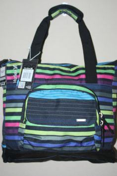 11ddbd71f27 Hurley Womens Black Multicolor Lime Book Bag Computer Bag with  Shoulderstrap   eBay Computer Bags,