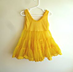 1960s Yellow Girls / 60s Petticoat by KidletVintage on Etsy