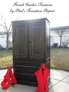 black armoire @Natalie Dustin Shattuck this is the exact amoire i have but unpainted. Going for a similar look but going to alter it some :)