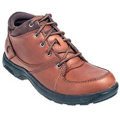 Dunham Shoes  Men's Brown 8006 BR Waterproof Diabetic Addison Mid Cut Work Shoes