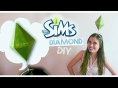 SIMS DIAMOND/PLUMBOB DIY!! (Sims Costume) - YouTube