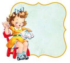 All sizes | Sewing girl frame | Flickr - Photo Sharing!