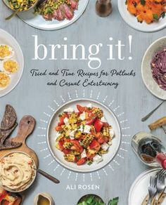 "Buy Bring It! by Ali Rosen at Mighty Ape NZ. Bring It! is the ultimate source for potluck, picnic, or dinner party-worthy dishes that combine simple prep with big taste! The word ""potluck"" may. Potluck Recipes, Pasta Recipes, Dinner Recipes, Snap Pea Salad, Pickled Shallots, S'mores Bar, Snap Peas, Short Ribs, What To Cook"