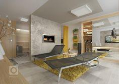 Kuchyně v RD nedaleko Brna. U kuchyňské linky je na stěně černá stěrka, která se opakuje i na dalších stěnách interiéru. Prac. deska a nábytek v dekoru… Fitness, Design