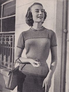 Free Vintage Knitting Pattern : Beaded Lucelle Jumper