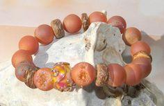 Beach Bracelet by Fire Imp Lampwork Beads