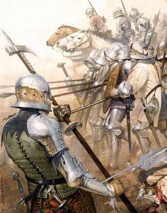 Detail from The battle of Toro 1476 by José Daniel Cabrera Peña