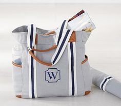 Find stylish and functional diaper bags at Pottery Barn Kids. Shop diaper backpacks, totes and more in fun prints and colors. Wallet Pattern, Tote Pattern, Chic Diaper Bag, Diaper Bags, Tote Tutorial, Tutorial Sewing, Best Baby Blankets, Striped Tote Bags, Bag Patterns To Sew