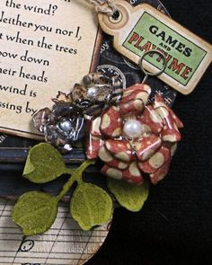 faux porcelain flowers by Sherry Cheever...video tutorial on her blog also