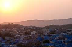 All sizes | The sunset over the blue city, Jodhpur, Rajasthan, India | Flickr - Photo Sharing!