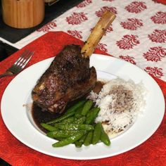 Lamb Shank Sous Vide with Red Wine Sauce