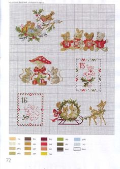 "Photo from album ""la magie de noel"" on Yandex. Cross Stitch Christmas Ornaments, Xmas Cross Stitch, Just Cross Stitch, Cross Stitch Baby, Christmas Embroidery, Christmas Cross, Cross Stitch Charts, Cross Stitch Designs, Cross Stitching"