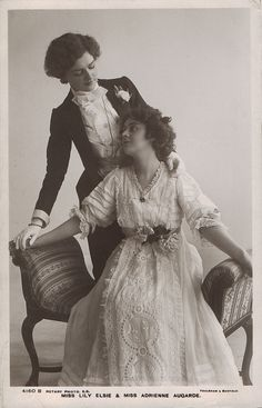 Lily Elise and Adrienne Augarde 1907