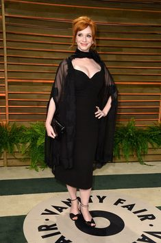 Actress Christina Hendricks attends the 2014 Vanity Fair Oscar Party hosted by Graydon Carter on March 2, 2014 in West Hollywood, California.