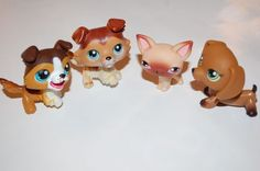 Littlest Pet Shop Collie #58 Collie 237 Dachshund Chihuahua Rare Vintage LPS LOT 10 day Auction starting @ $ 4.99