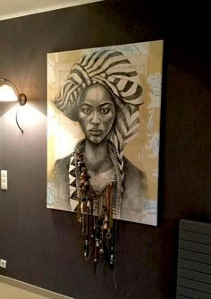 super Ideas for african art painting abstract African Wall Art, African Art Paintings, Art Mural Africain, African Interior Design, Afrique Art, African Home Decor, Inspiration Art, House Drawing, Afro Art