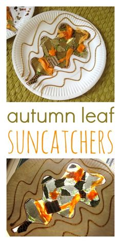 a lovely craft idea that makes the most of the autumn sunshine - great for younger children too, and no glue = no mess!