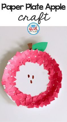 Get kids excited about apples and fall with this fine motor paper plate apple craft using torn paper. It's adorable and classroom friendly! useful crafts Fine Motor Paper Plate Apple Craft Fall Crafts For Toddlers, Easy Fall Crafts, Crafts For Teens To Make, Halloween Crafts For Kids, Toddler Crafts, Diy And Crafts, Stick Crafts, Summer Crafts, Decor Crafts