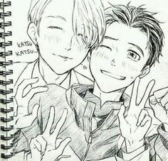 Yuri on ice: Yuuri and Victor