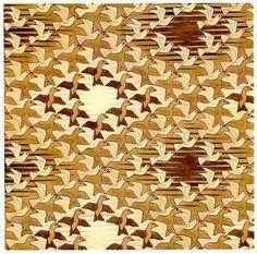 Oiseaux dans l'espace, Peinture de M.C. Escher