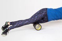 Quad Foam Roller Stretch