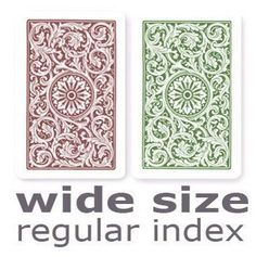 Copag 1546 Green & Burgundy Wide - Regular Index Playing Cards