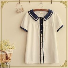 Buy 'Fairyland – Short-Sleeved Dotted Collar Blouse' with Free International Shipping at YesStyle.com. Browse and shop for thousands of Asian fashion items from China and more!